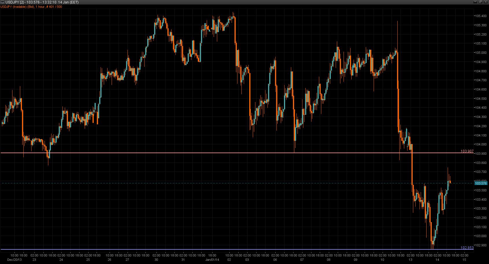 USD/JPY Chart 14 Jan 2014