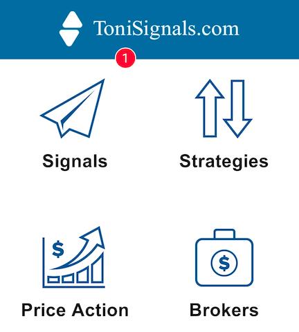 ToniSignals app